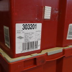 LEGO bricks in factory boxes